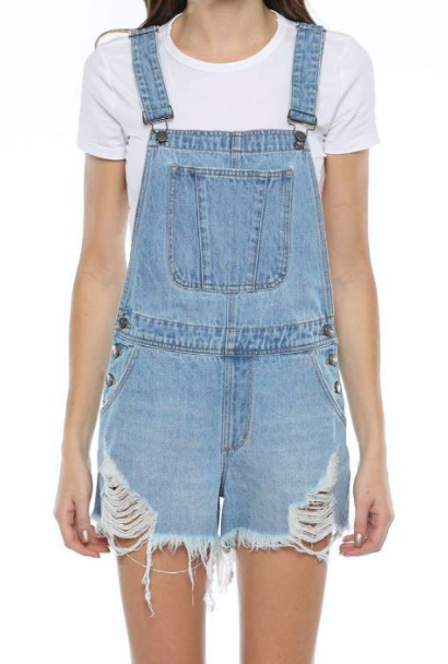Dixie Darlin Distressed Overalls