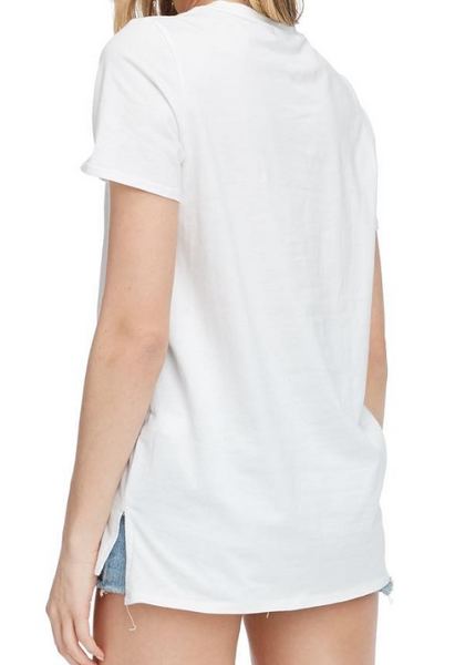 Blanco Distressed White Tee