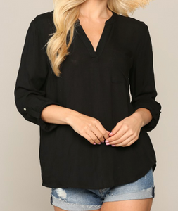 Taylor Black Blouse