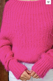 Tough Enough Hot Pink Sweater