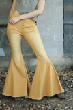 Sunrise Yellow Denim Flares