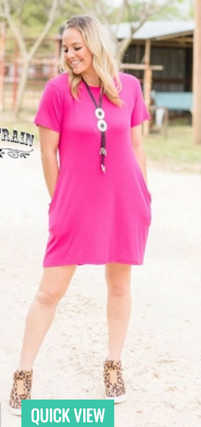 Pretty in Pink Pocket Dress