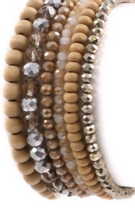 Wander Beaded Bracelet Bundle (6pc) Nude