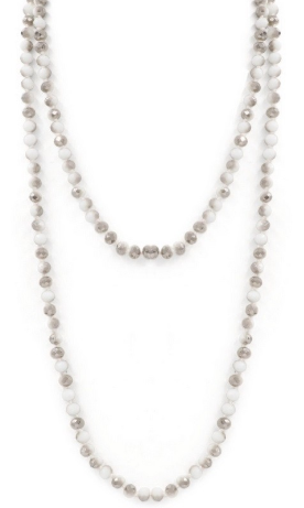 Sparkle and Shine Beaded Necklace in WHITE