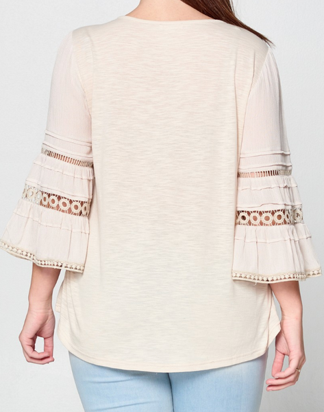 Caroline Boho Crochet Top - Plus