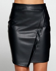 Sedona Faux Leather Skirt in Black