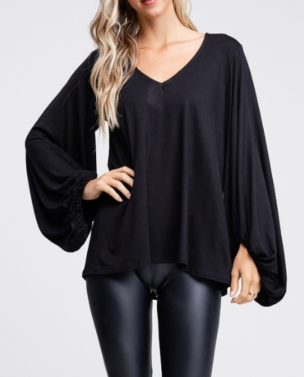 After Hours Black Blouse