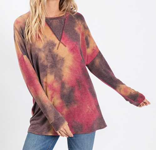 Indian Sunset Tie Dye Top