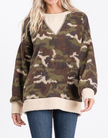 Remington Camouflage Fleece Sweater