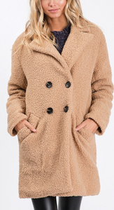 The Beth Fleece Camel Jacket