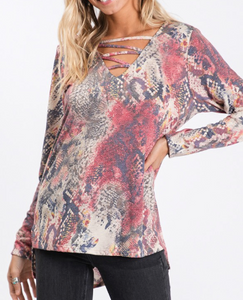 Animal Instinct Print Top