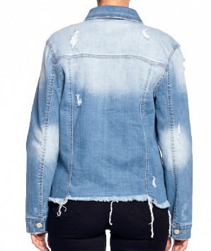 All American Girl Denim Distressed Jacket