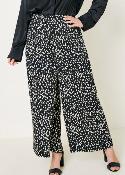 Cool Girl Print Wide Leg Pants
