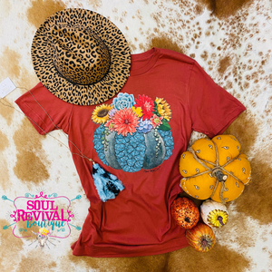 Succa for Turquoise Rust Pumpkin Tee
