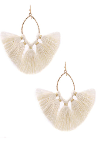 Fan Fave Earrings in Ivory