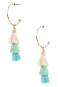 Tia Tassel Earrings in Turquoise