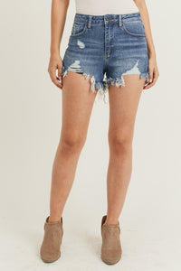 Beachin' Distressed Denim Cutoff Shorts