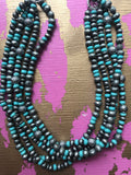 Twisted Beaded Turquoise Necklace