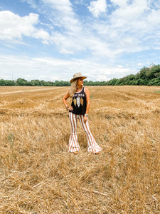 Coco Rust Stripe Bell Bottoms