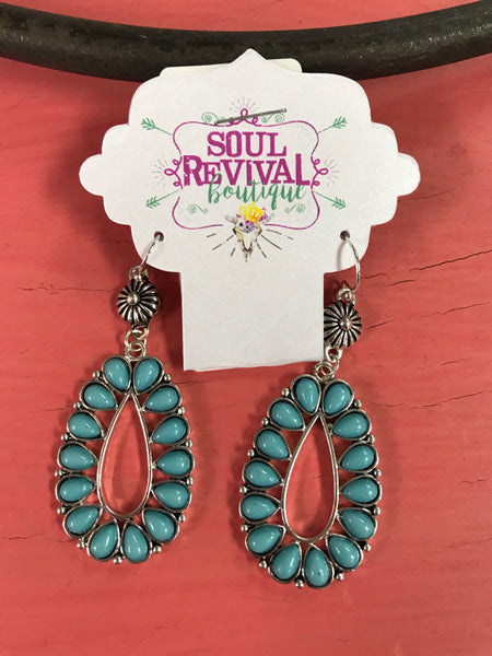 Ablaze Turquoise Earrings