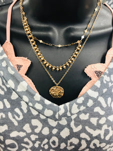 Venice Coin Necklace in Gold