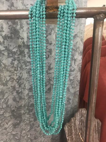 Sparkle and Shine Beaded Necklace in TURQUOISE