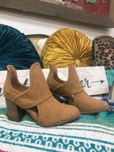 Tanya Booties in Tan