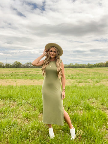 Day Dream Maxi Dress in Sage