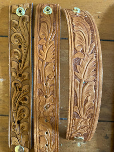 Calamity Jane Tooled Belt Cuff