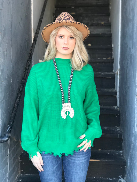 Memories Kelly Green Sweater
