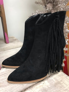 The Weekend Fringe Booties in Black