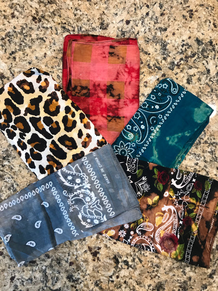 Vintage Distressed Bandanas