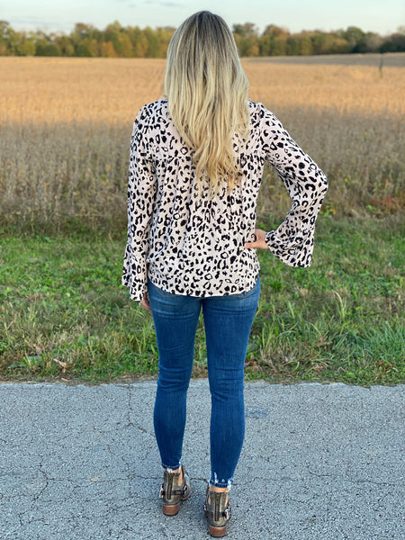Sewanee Leopard Embroidered Top