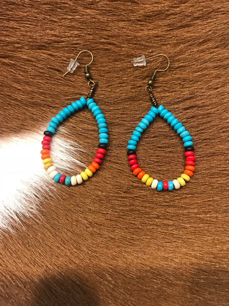 Native Sun Beaded Earrings
