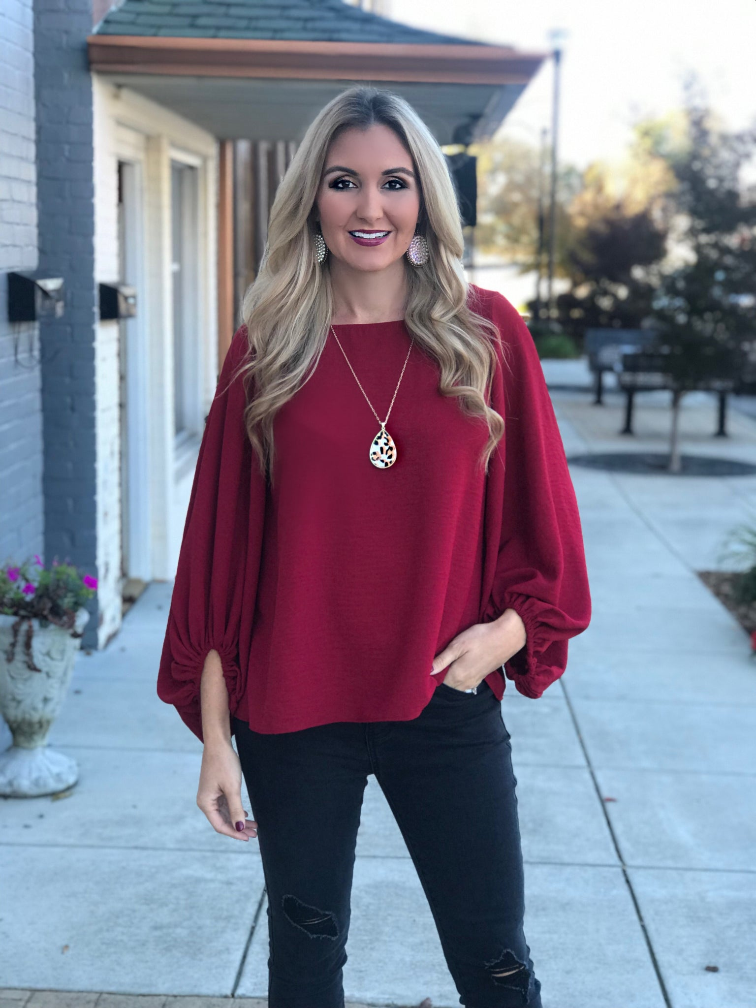 Desire Red Blouse