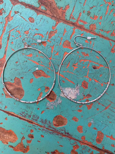 Shiloh Circle Hoops in Silver