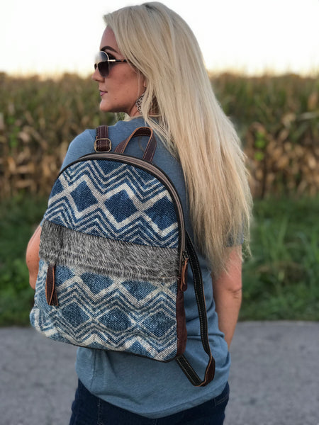 Blue Breeze Leather and Hide Backpack
