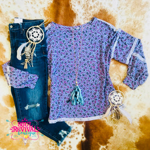 Purple Haze Boho Print Top