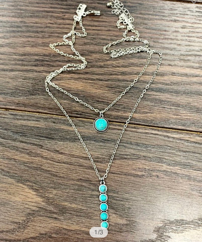Spur Turquoise Necklace & Earrings
