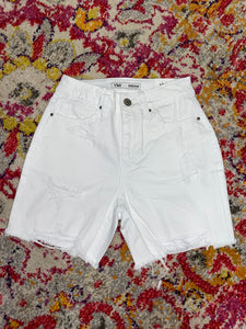 Whitney White Denim Shorts