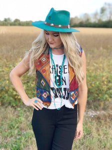 Hopalong Aztec Vest - MEDIUM ONLY