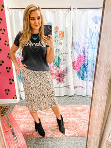 Seeing Spots Midi Skirt