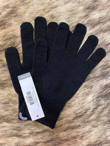 Tech Touch Screen Mittens in Black