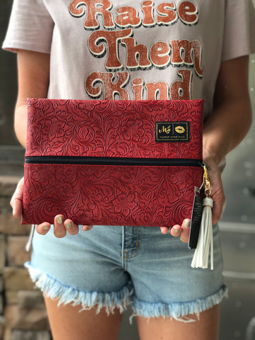 Makeup Junkie Bag in Rodeo Red