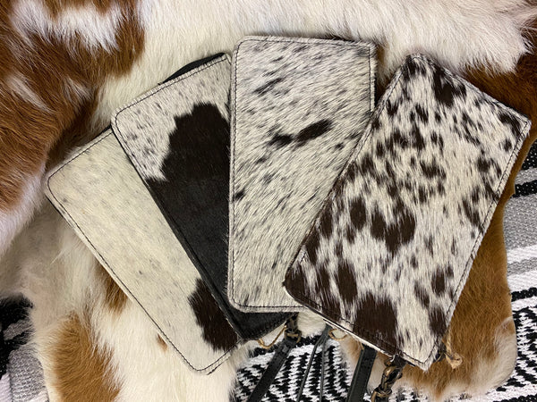 Silas Animal Print Clutch & Wallet