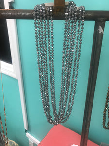 Sparkle and Shine Beaded Necklace in SILVER