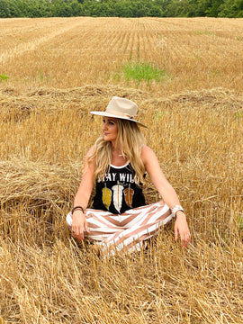 Stay Wild Feather Tank