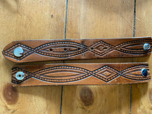 Diamond Rio Tooled Belt Cuff