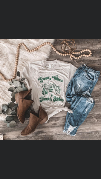 Good Vibes & Tractor Rides Tee