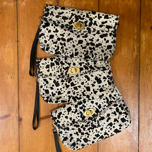 Speckle Spot Clutch & Wallet